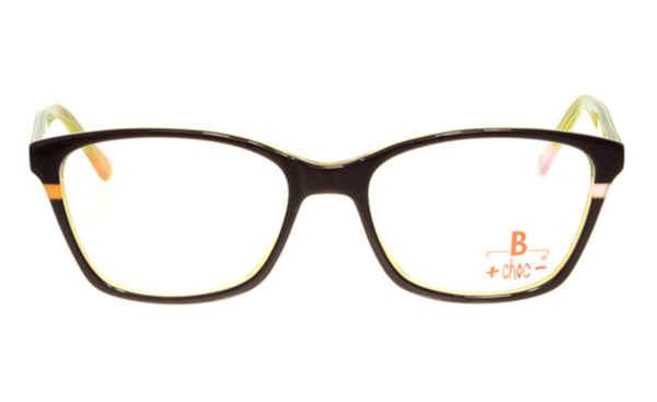 Brille +choc- C492 dunkelrot glänzend mit gelber Umrandung |Brillenmann