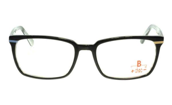 Brille +choc- C498 schwarz glänzend mit kleinem farbigen Streifen |Brillenmann