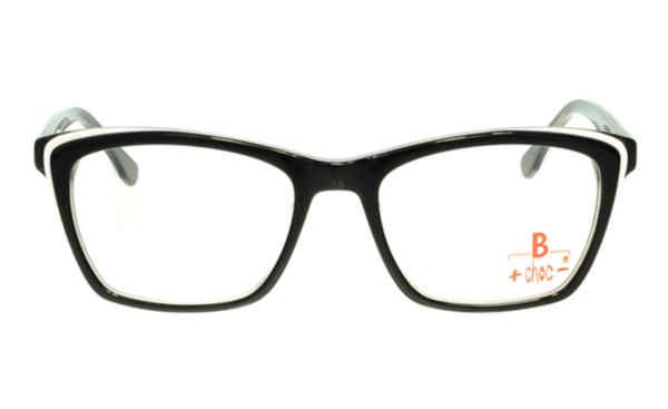 Brille +choc- C502 schwarz glänzend mit weißer Umrandung  Brillenmann