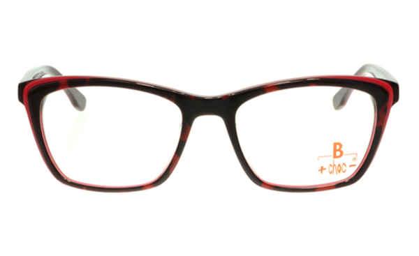 Brille +choc- C502 dunkelrot glänzend mit hellroter Umrandung |Brillenmann
