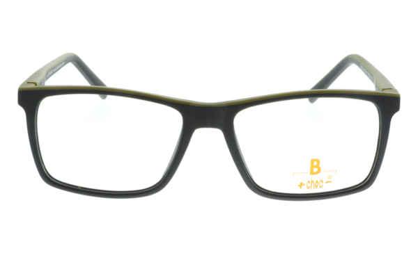 Brille +choc- C507 oberbalken khaki matt rest schwarz matt |Brillenmann
