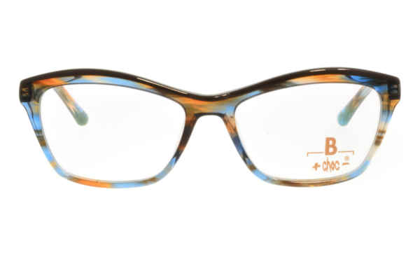 Brille +choc- C524 braun blau marmoriert Augenrand oben braun |Brillenmann