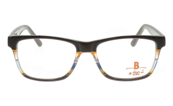 Brille +choc- C545 Front oben braun