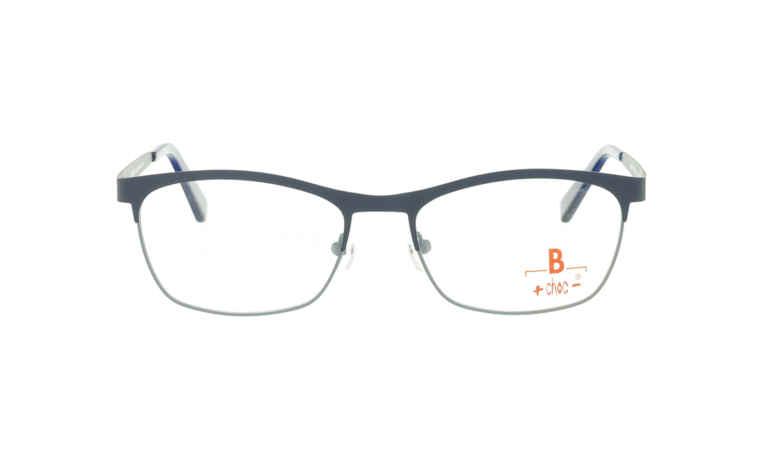Brille +choc- C568 oben dunkelblau/unten grau matt  Brillenmann