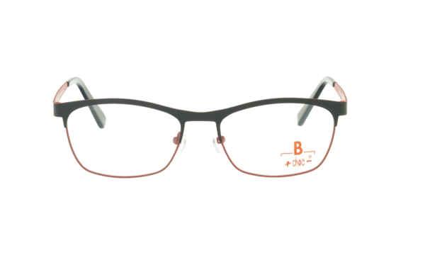 Brille +choc- C568 oben schwarz/unten rot matt |Brillenmann
