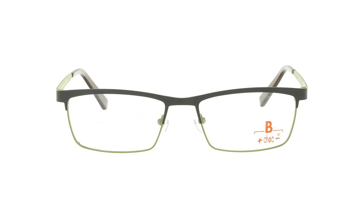 Brille +choc- C569 oben dunkelbraun/unten grün matt |Brillenmann
