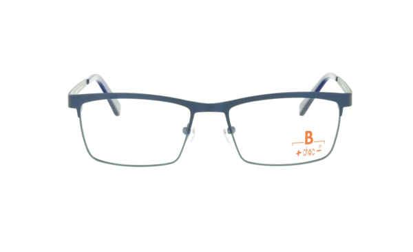 Brille +choc- C569 oben dunkelbau/unten blau matt |Brillenmann