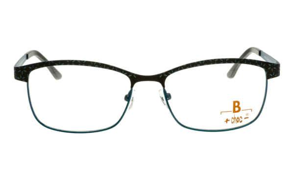 Brille +choc- C572 braun-türkis gemustert matt |Brillenmann