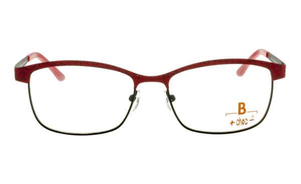 Brille +choc- C572 rot-grau gemustert matt |Brillenmann