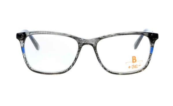Brille +choc- C582 schwarz-transparent mit blau glänzen  Brillenmann
