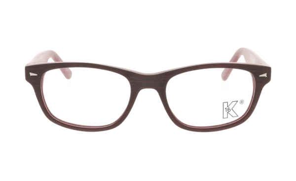 Brille K16 K1195 rot Holzstruktur matt |Brillenmann