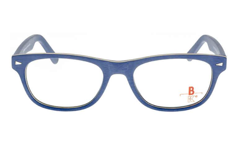 Brille K16 K1195 Holzoptik blau matt |Brillenmann