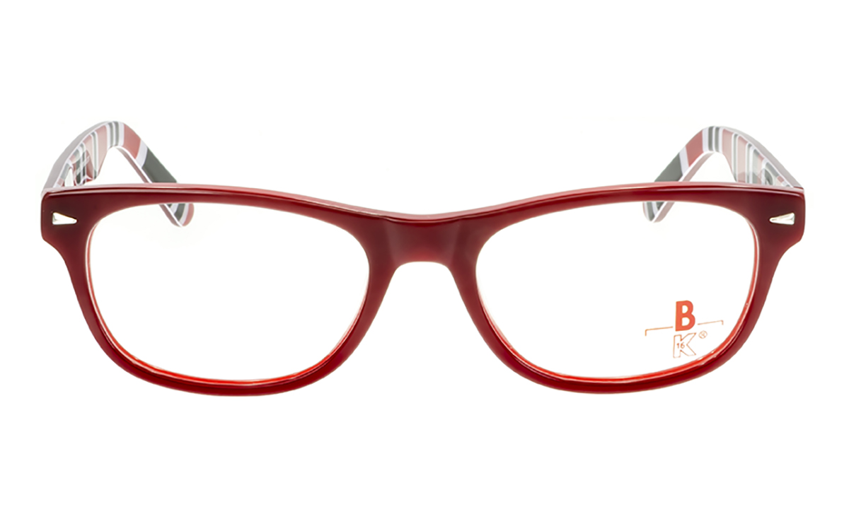 Brille K16 K1195 dunkelrot glänzend  Brillenmann