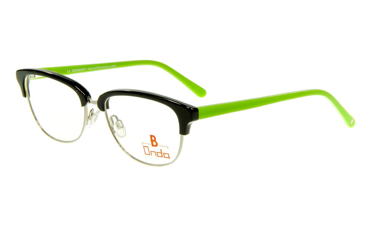 unten silber glänzend  Brillenmann