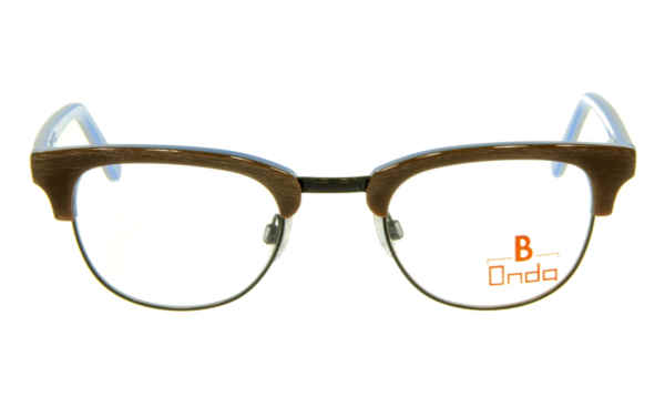 Brille Onda ON3009 oben Holzoptik braun