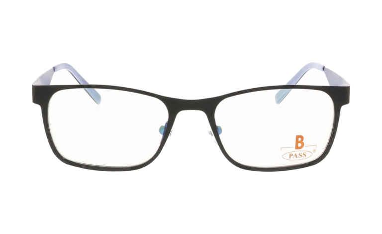 Brille P·A·S·S P371 schwarz mit Fräsung matt |Brillenmann