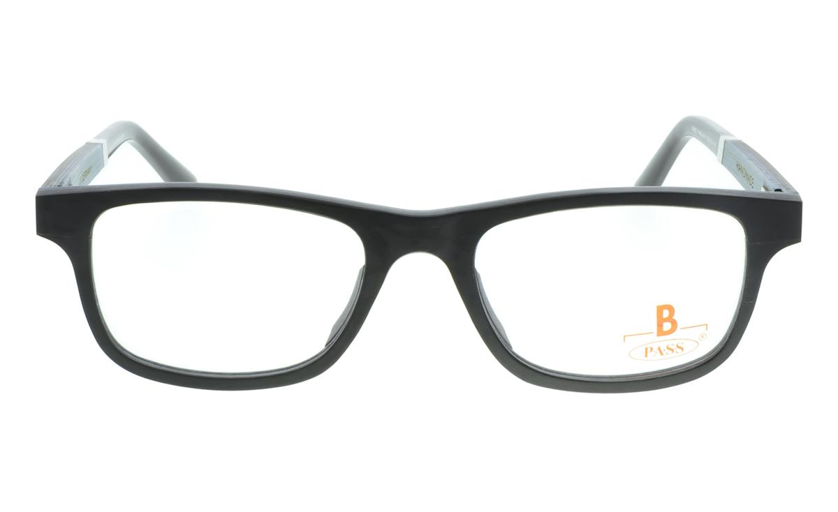 Brille P·A·S·S P465 schwarz gefärbtes  Ahornholz  Brillenmann