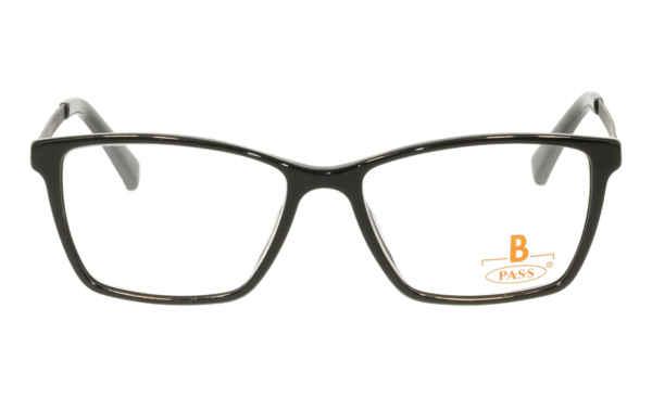 Brille P·A·S·S P497 schwarz glänzend  Brillenmann