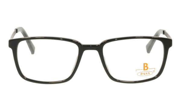 Brille P·A·S·S P498 schwarz glänzend  Brillenmann