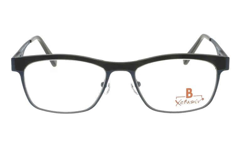 Brille Xclusiv XCF22 dunkeblau mit schwarzer TR 90-Applikation matt  Brillenmann