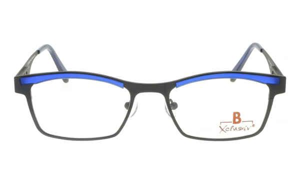Brille Xclusiv XCF23 grau matt mit blauer TR 90-Applikation matt |Brillenmann
