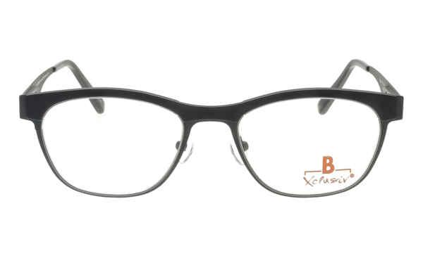 Brille Xclusiv XCF24 grau matt mit schwarzerTR 90-Applikation matt |Brillenmann