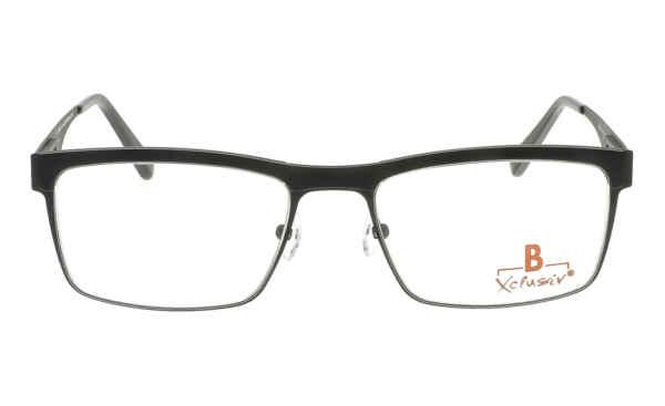 Brille Xclusiv XCF25 schwarz mit schwarzer TR 90-Applikation matt |Brillenmann