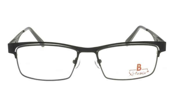 Brille Xclusiv XCF26 schwarz matt mit grauer Glaseinfassung matt |Brillenmann