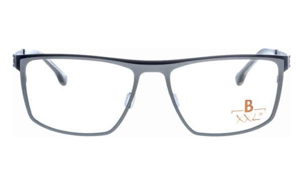 Brille XXL XXL1021 silber-schwarz matt |Brillenmann