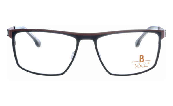Brille XXL XXL1021 schwarz-rot matt |Brillenmann
