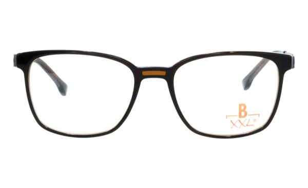 Brille XXL XXL1034 dunkelbraun mit Zierfräsung glänzend |Brillenmann