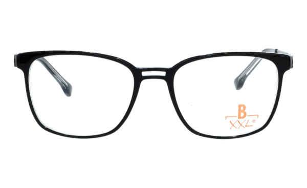 Brille XXL XXL1034 schwarz mit Zierfräsung glänzend |Brillenmann