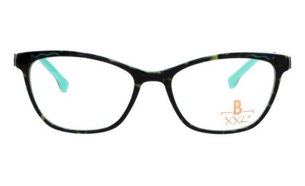 Brille XXL XXL1035 havanna glänzend mit Zierfräsung mint glänzend |Brillenmann