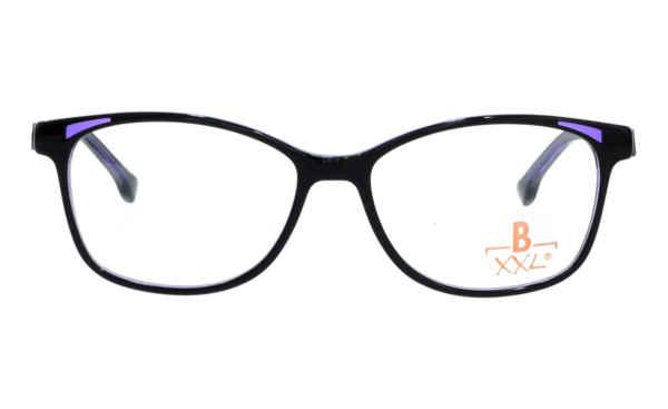 Brille XXL XXL1037 schwarz glänzend mit Zierfräsung lila glänzend |Brillenmann