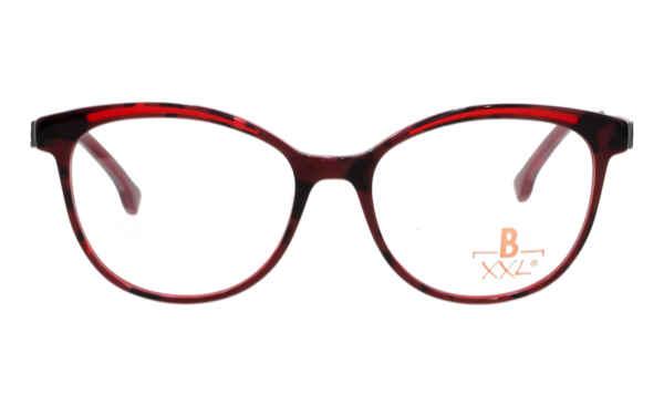 Brille XXL XXL1038 havanna rot mit Zierfräsung rot glänzend |Brillenmann