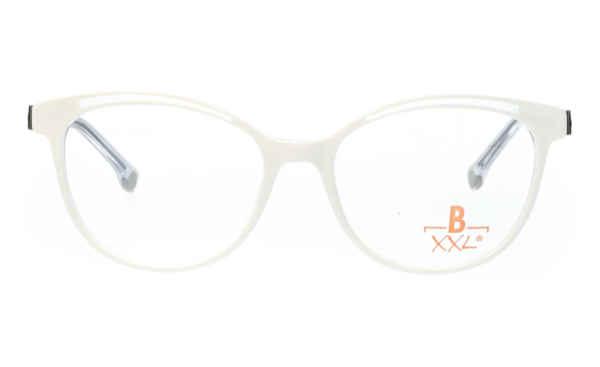 Brille XXL XXL1038 weiß mit Zierfräsung in transparent glänzend |Brillenmann