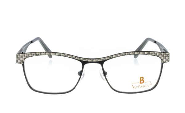Brille Xclusiv XCF27 schwarz mit grauem Bastwebmuster |Brillenmann