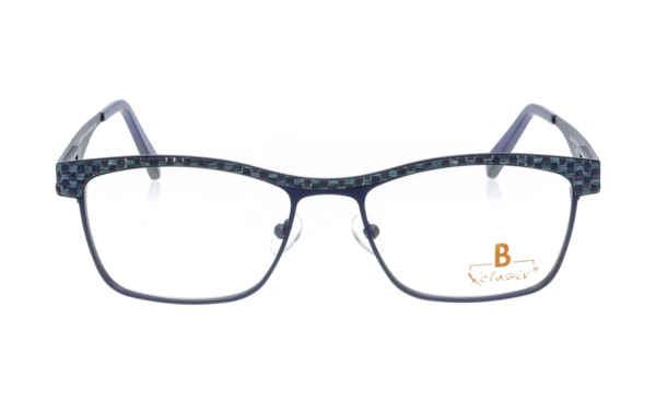 Brille Xclusiv XCF27 blau mit blauem Bastwebmuster |Brillenmann