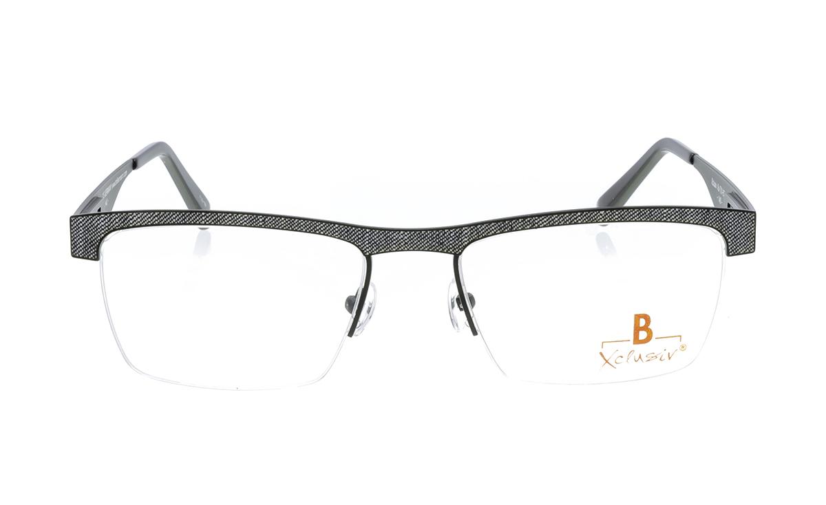 Brille Xclusiv XCF29 schwarz mit grauem Jeansmuster  Brillenmann