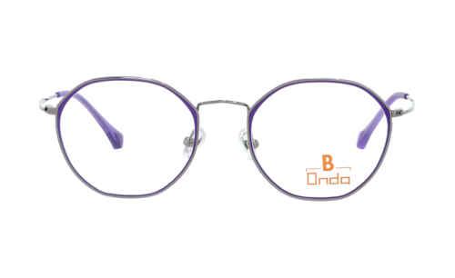 Brille Onda ON3026 silber mit lilafarbenen Augenrändern glänzend |Brillenmann