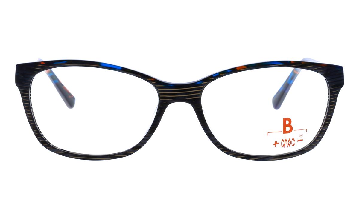 Brille +choc- C484 oben blau-rot gefleckt
