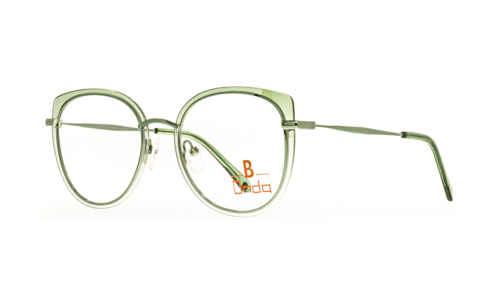 Augenrand grün transparent  Brillenmann