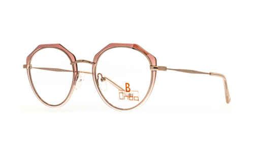 Augenrand rosa transparent  Brillenmann
